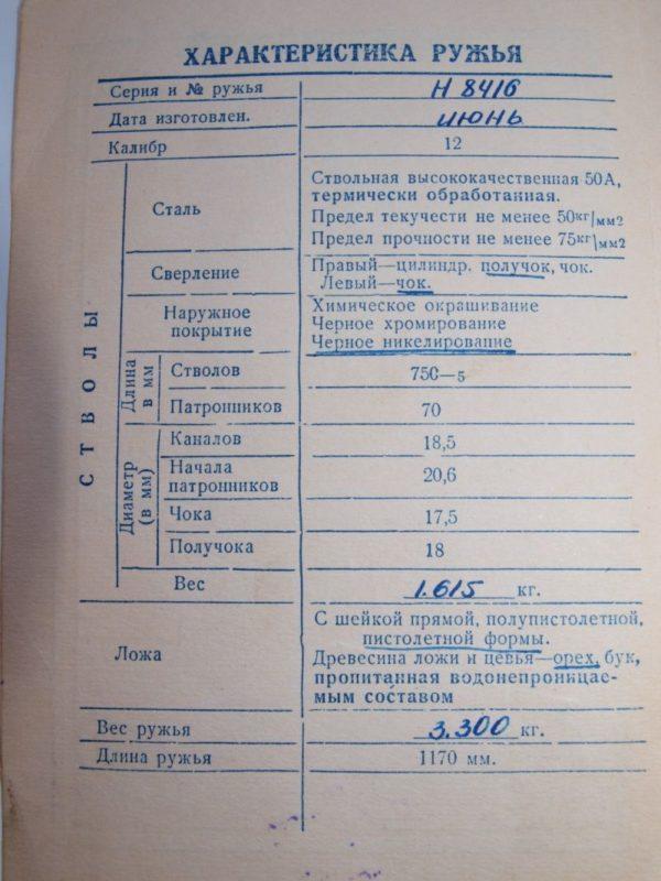 паспорт оружия